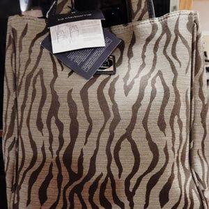 Liz Claiborne tote bag lap top medium brown NWT